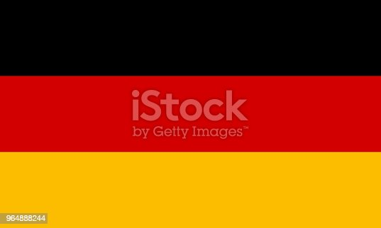 Germany Flag Vector Stock Vector Art & More Images of Accuracy 964888244