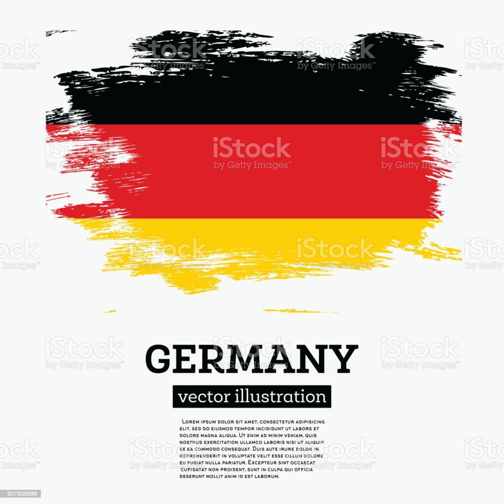 Bandera de Alemania con trazos de pincel. - ilustración de arte vectorial