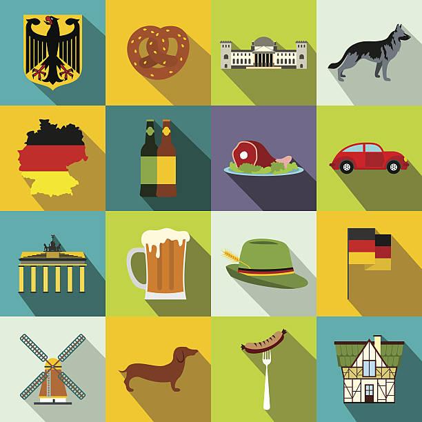 ilustrações de stock, clip art, desenhos animados e ícones de germany flat icons - berlin wall