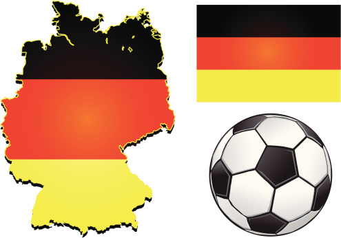 Germany Football Stock Illustration - Download Image Now