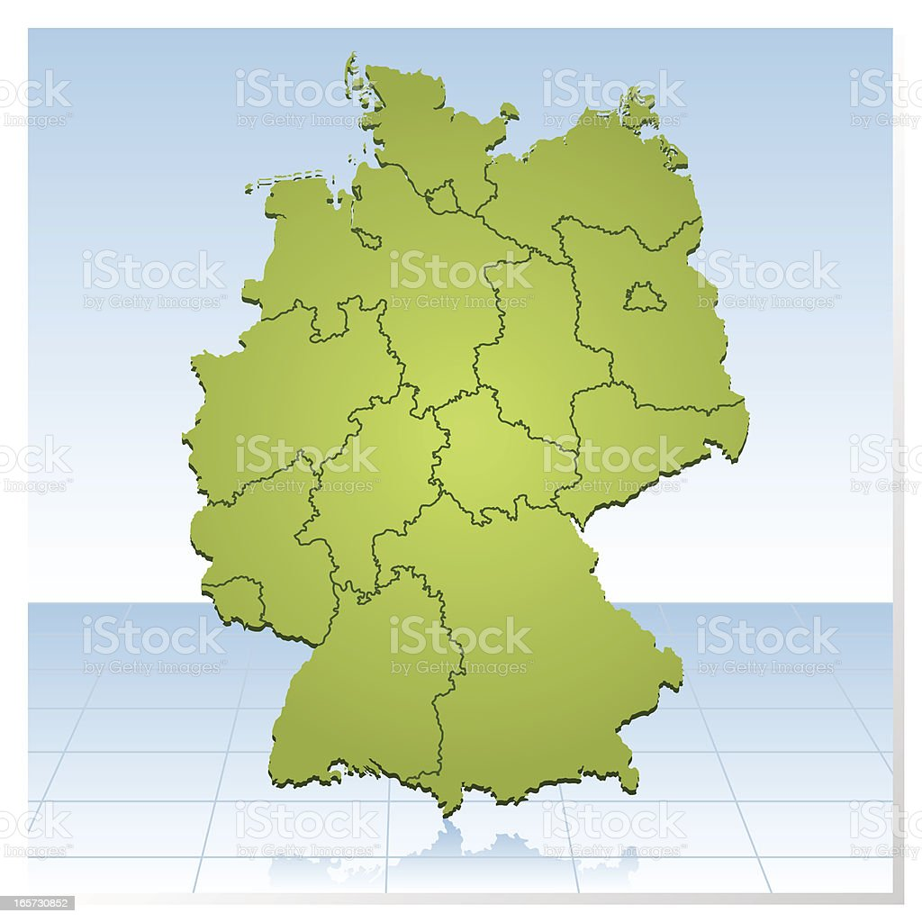 Germany green map royalty-free stock vector art