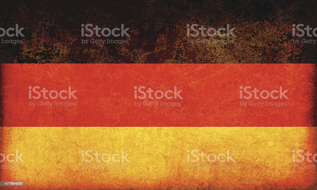 Germany grunge flag vector art illustration