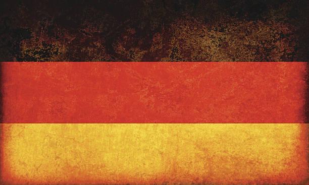 ilustraciones, imágenes clip art, dibujos animados e iconos de stock de bandera de grunge de alemania - bandera alemana