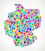 Germany Hand Prints royalty free vector art Pattern