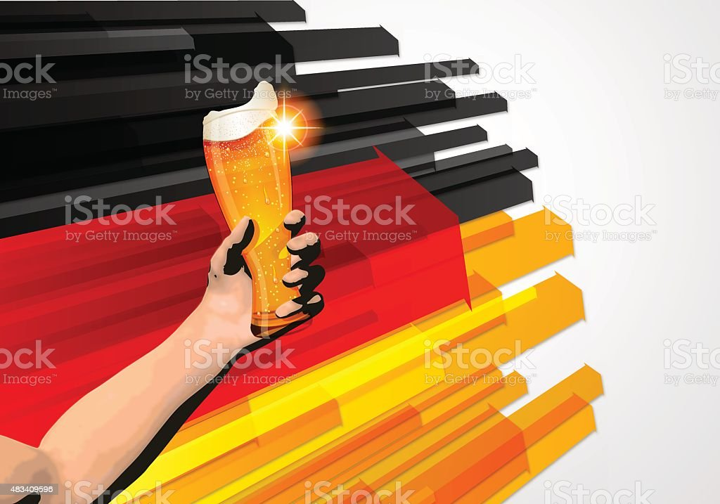 Germany holiday background[Arrows and Cheers] vector art illustration