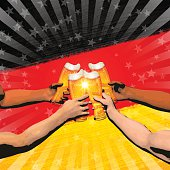 """This illustration is a background of the text for """"Germany holiday""""."""