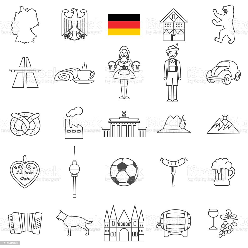 Germany icon set – Vektorgrafik