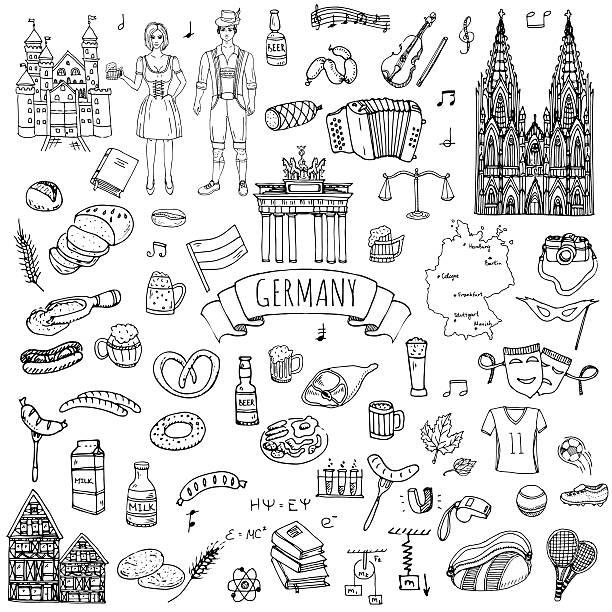 deutschland symbole - köln stock-grafiken, -clipart, -cartoons und -symbole