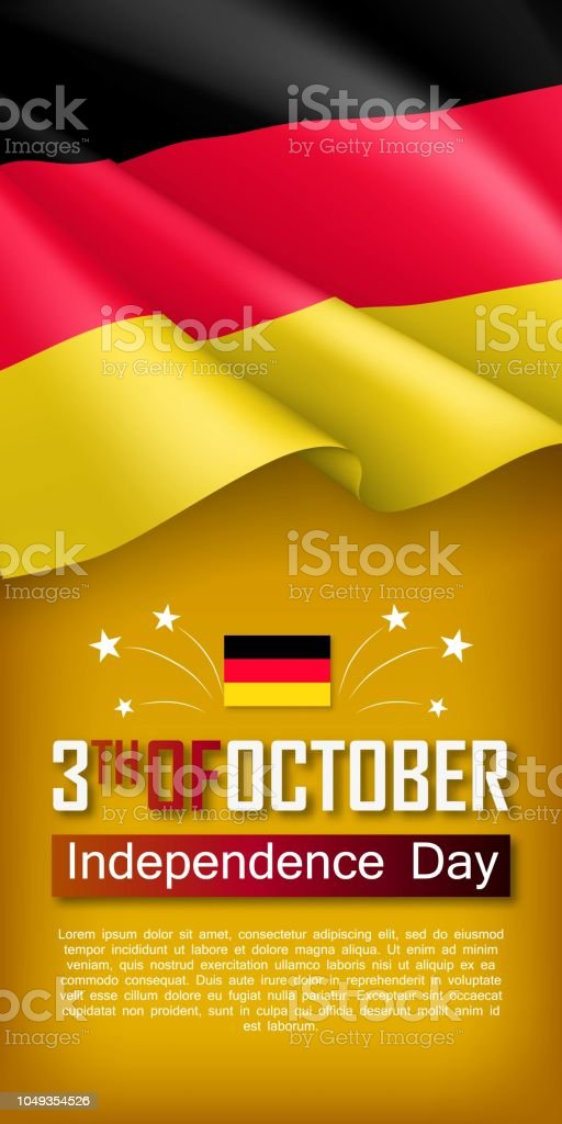 germany independence day vertical flyer stock vector art more