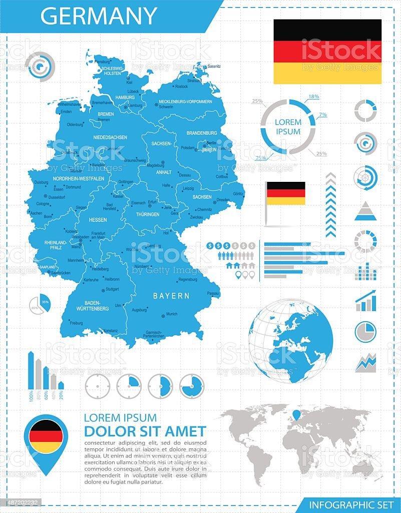 Allemagne-plan de l'infographie-Illustration - Illustration vectorielle