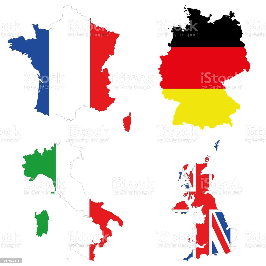 Germany italy france uk stock vector art more images of accuracy germany italy france uk royalty free germany italy france uk stock gumiabroncs Choice Image