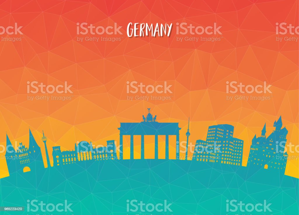Germany Landmark Global Travel And Journey paper background. Vector Design Template.used for your advertisement, book, banner, template, travel business or presentation. royalty-free germany landmark global travel and journey paper background vector design templateused for your advertisement book banner template travel business or presentation stock vector art & more images of architecture