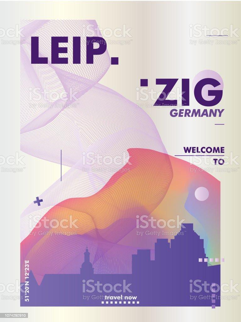 Germany Leipzig Skyline City Gradient Vector Poster Stock Illustration Download Image Now Istock