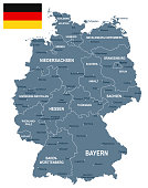 Germany - map and flag illustration