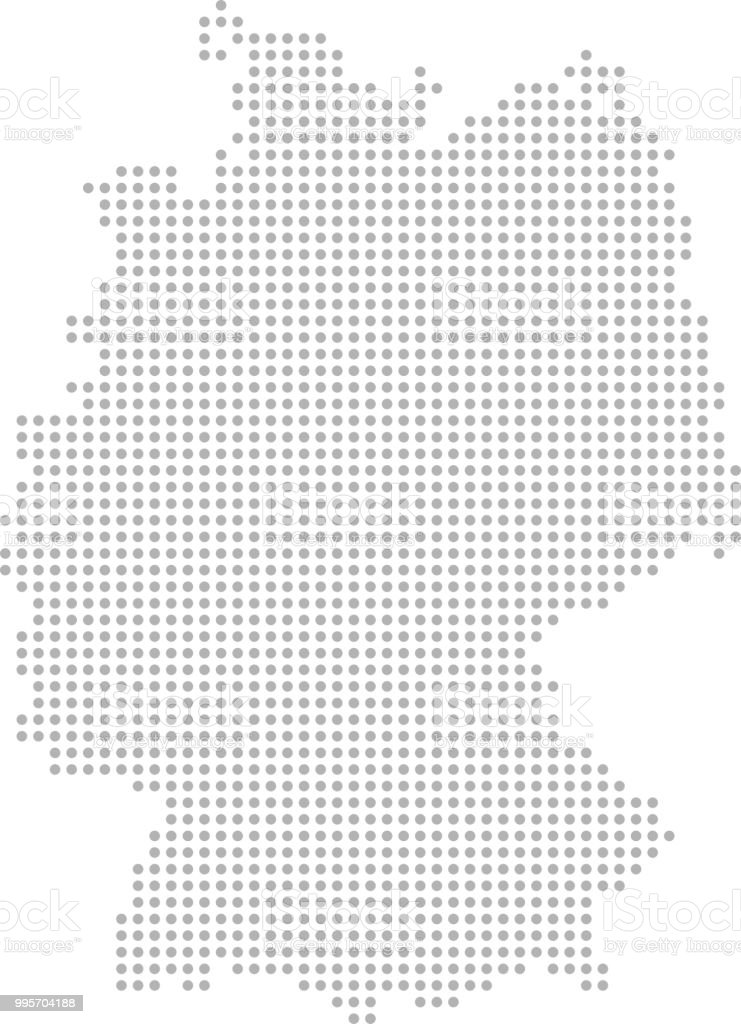 Germany Map Dots Vector Outline Dotted Map Point Patterns ...