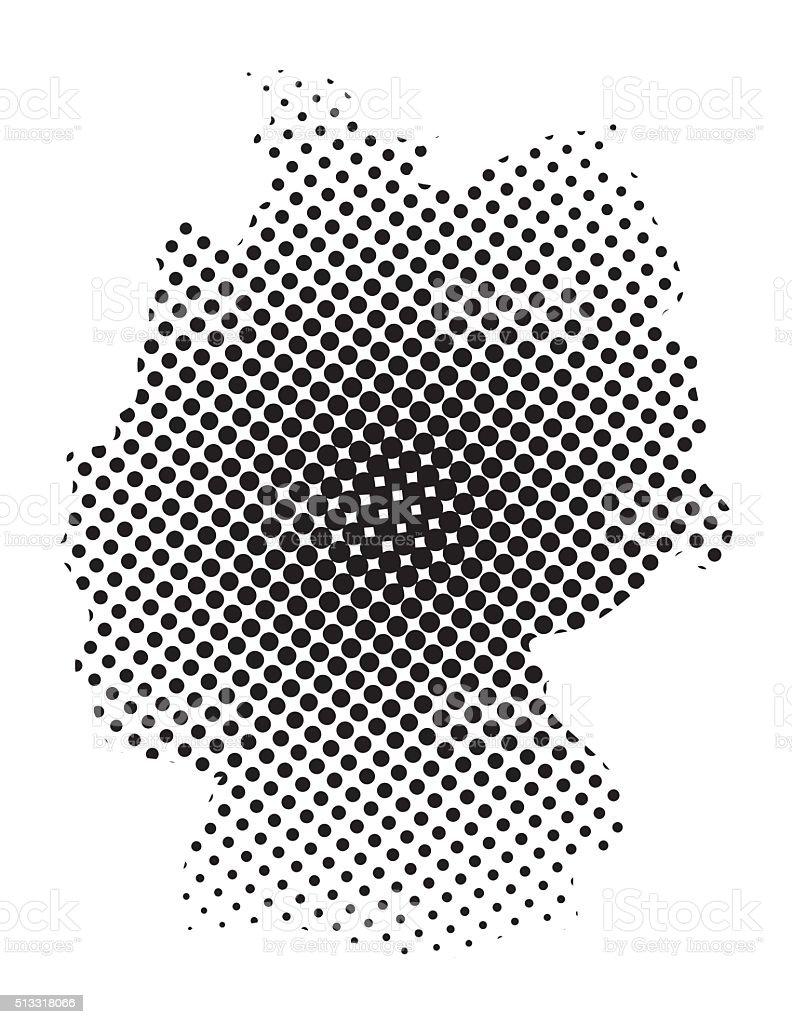 deutschlandkarte halbton vektorsymbolsymboldesign stock vektor art und mehr bilder von berlin. Black Bedroom Furniture Sets. Home Design Ideas