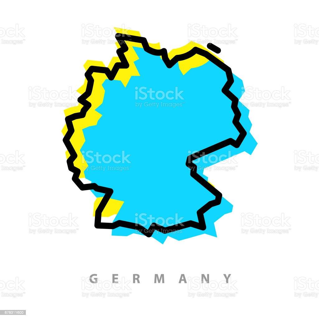 Germany map illustration vector art illustration