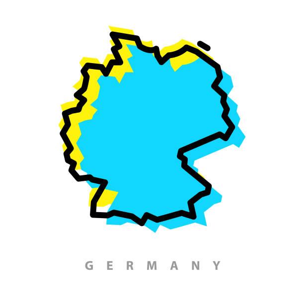 독일 지도 그림 - 독일 stock illustrations