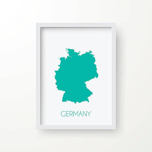 ilustrações de stock, clip art, desenhos animados e ícones de alemanha mapa na moldura no fundo branco - berlin wall