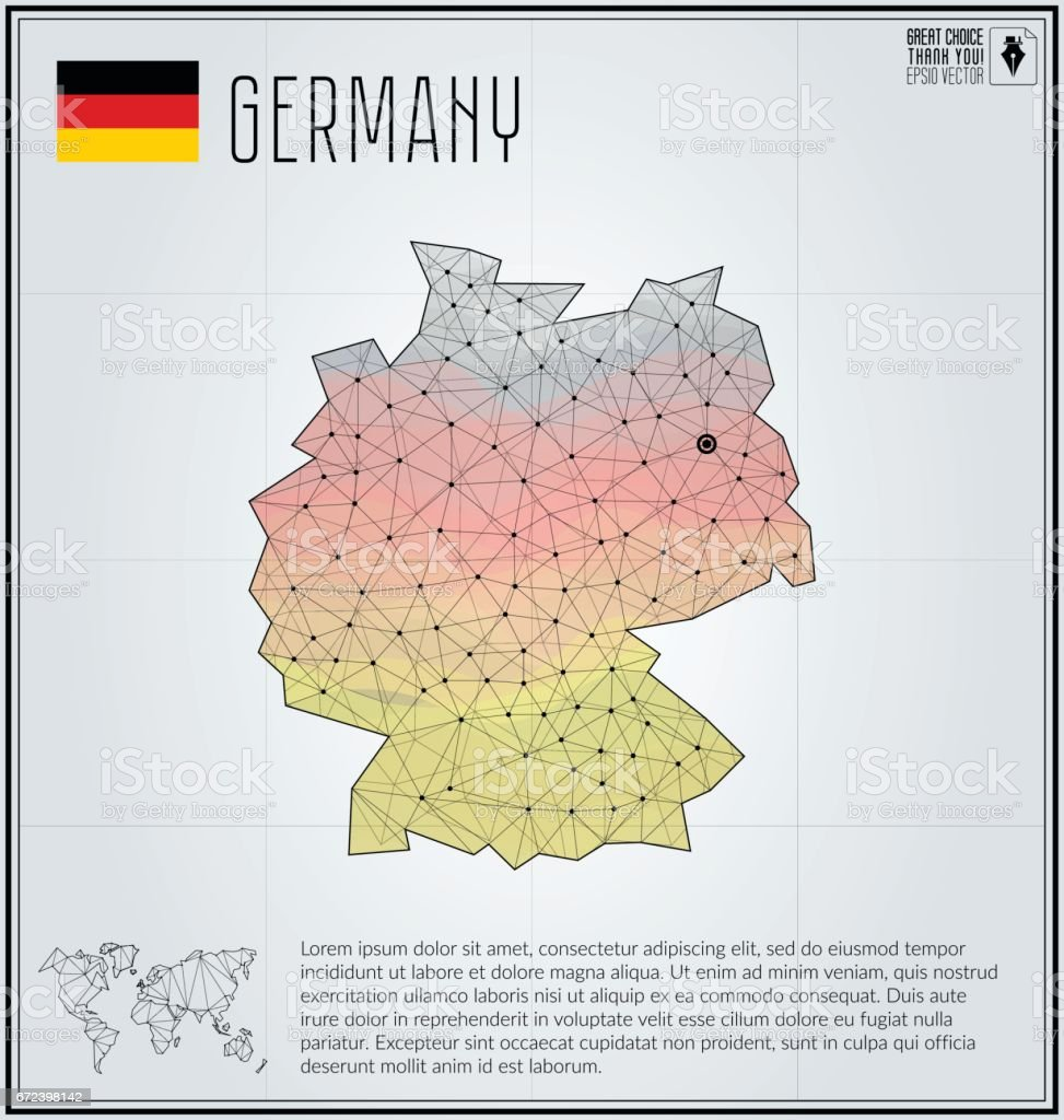 Germany map in geometric polygonal style polygonal abstract world germany map in geometric polygonal style polygonal abstract world map vector illustration germany gumiabroncs