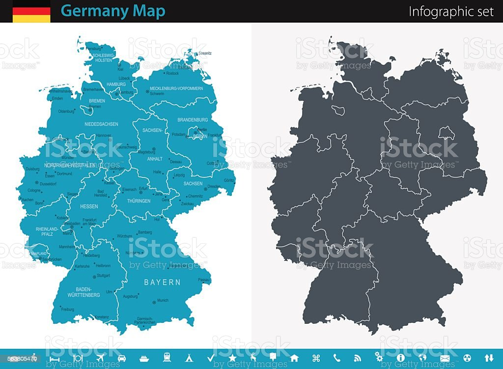 Germany Map - Infographic Set - Illustration vectorielle