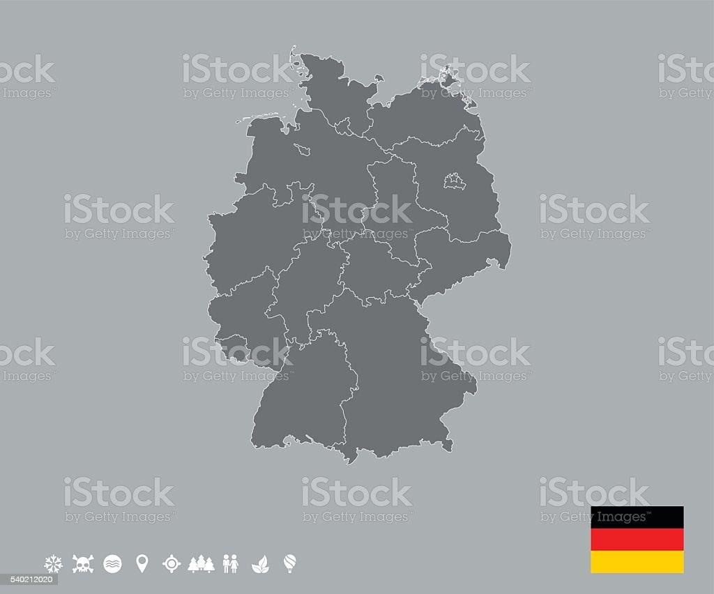 Germany Map Template vector art illustration