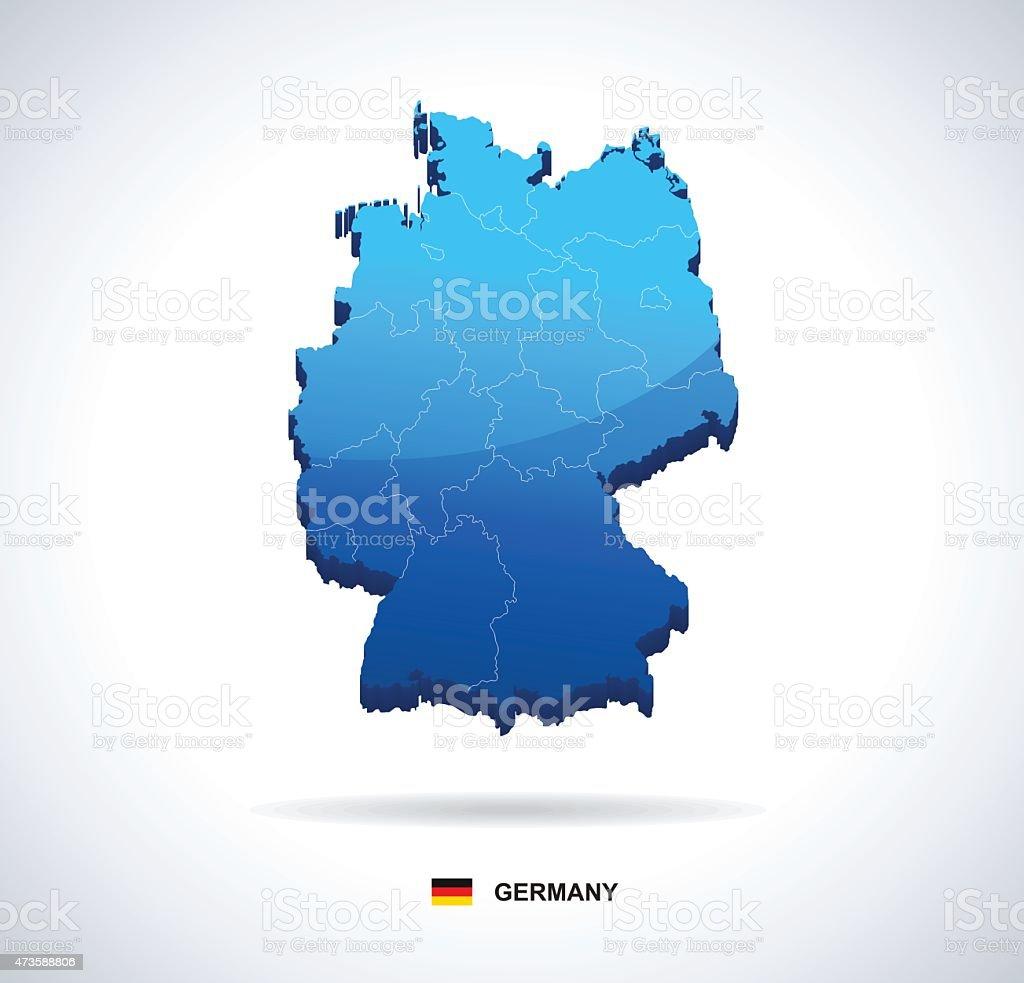 Germany map - three-dimensional vector illustration vector art illustration