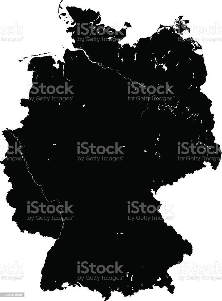 Germania Mappa Vettoriale In Bianco E Nero Immagini Vettoriali