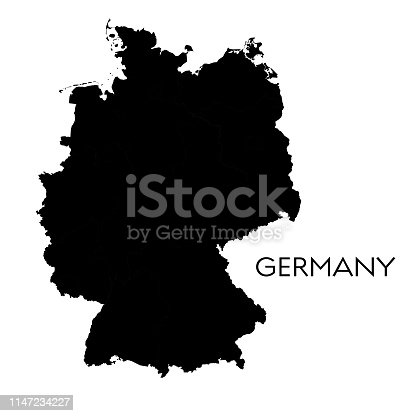 Vector illustration of the map of Germany