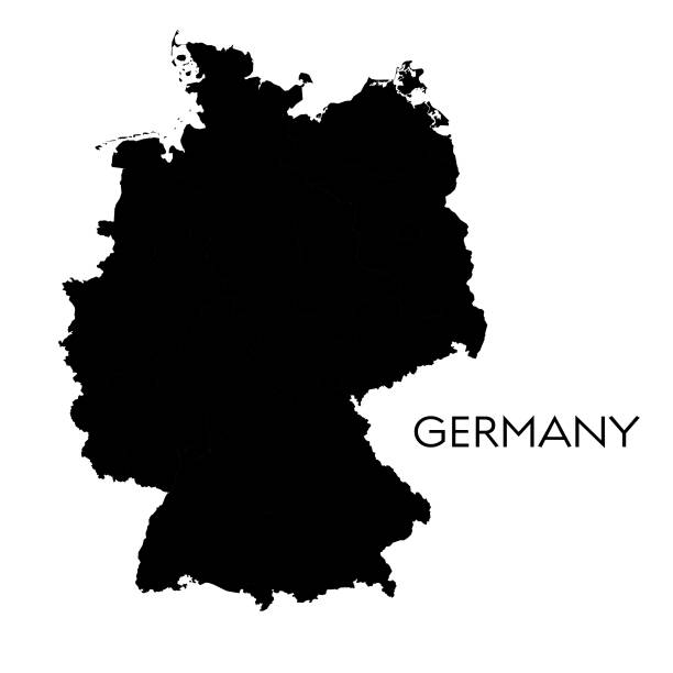 Germany map Vector illustration of the map of Germany germany stock illustrations