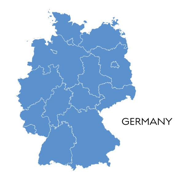 mapa niemiec - niemcy stock illustrations