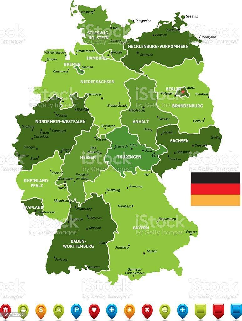 Bawaria mapa niemiec Landy niemieckie