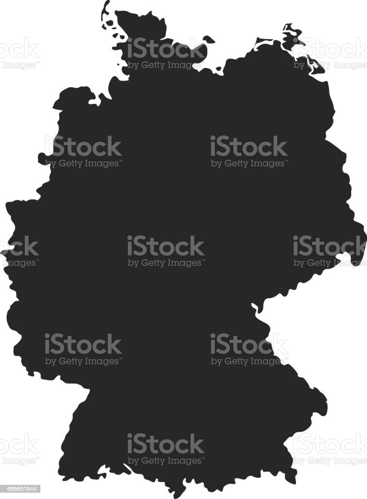 Germany map - Illustration vectorielle