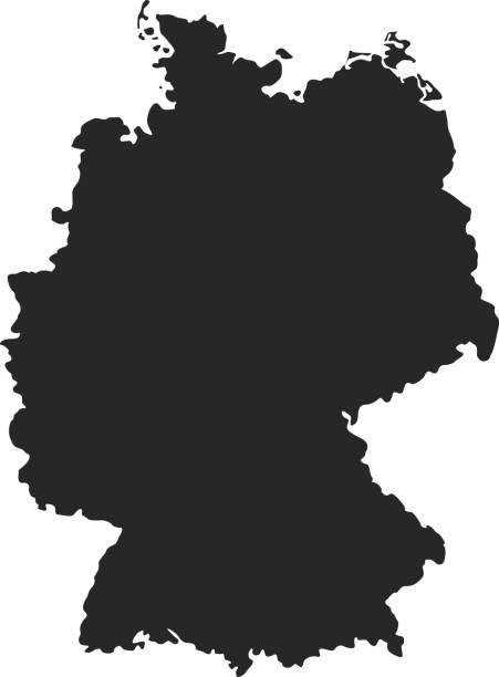 Germany map - ilustración de arte vectorial