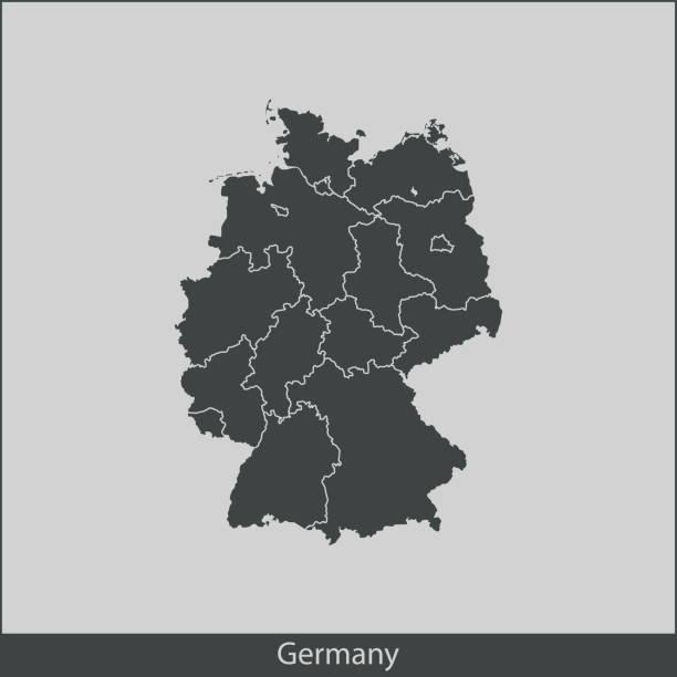 독일 맵 - 독일 stock illustrations