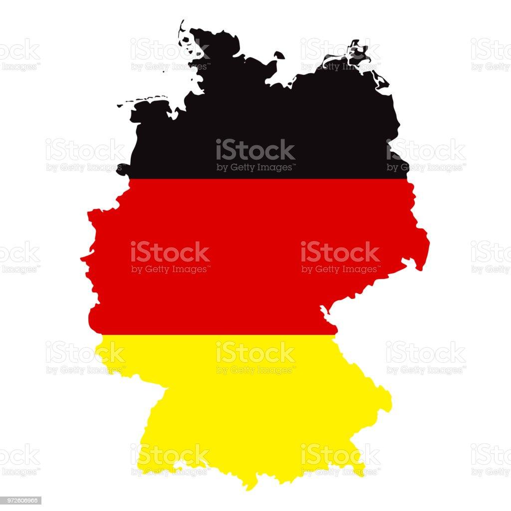 Mapa da Alemanha com bandeira infográfico Vector - ilustração de arte em vetor