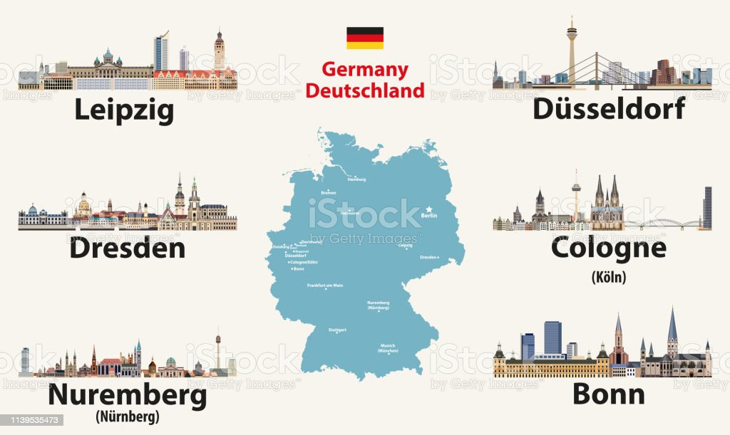 Germany Map With Largest Cities Skylines Icons Vector ... on map of cardiff germany, map of ludwigshafen germany, map of oslo germany, map of brussels germany, map of bremen germany, map of rotterdam germany, transportation map of germany, map of birmingham germany, map of geilenkirchen germany, map of ratingen germany, map of kaiserslautern germany, map of paris germany, map of munchen germany, map of germany airports, map of mecklenburg vorpommern germany, map of st goar germany, map of antwerp germany, map of luneburg germany, map of konigsberg germany, map of bad homburg germany,