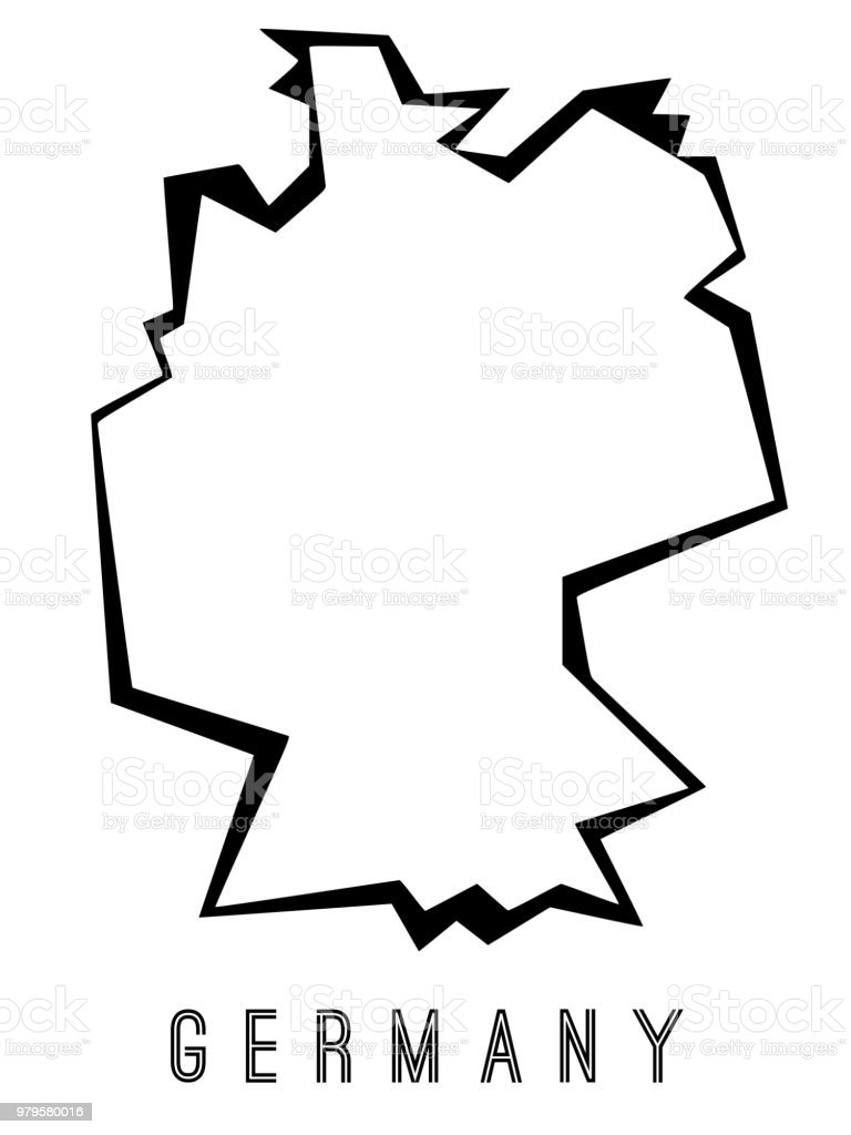 Map Of Germany Outline.Germany Outline Map Stock Vector Art More Images Of Angle Istock
