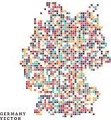 Germany Pixel Outline