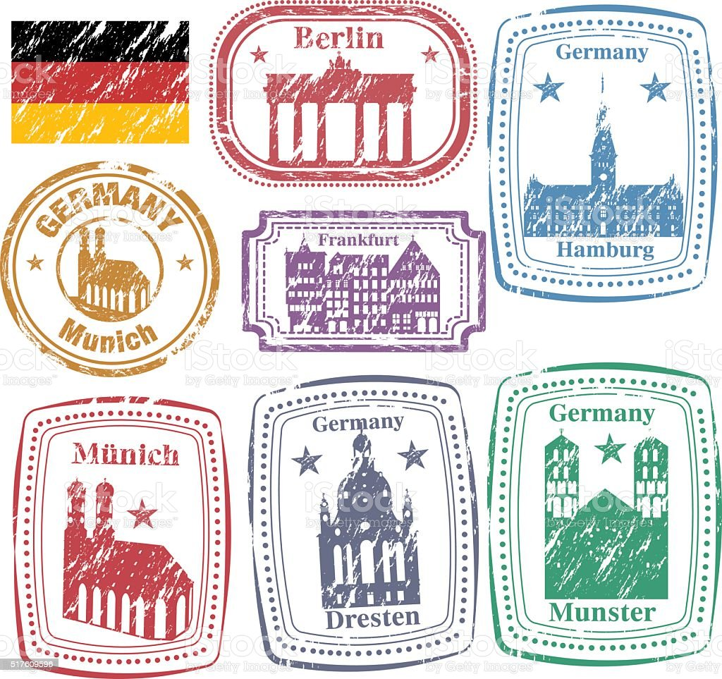 Germany Postage vector art illustration