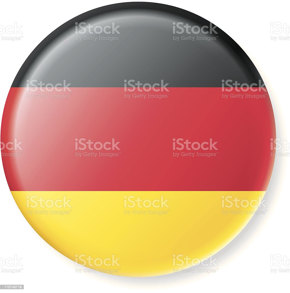 Germany Satin Flag Button royalty-free stock vector art