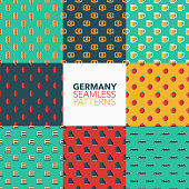 Germany Seamless Pattern Set