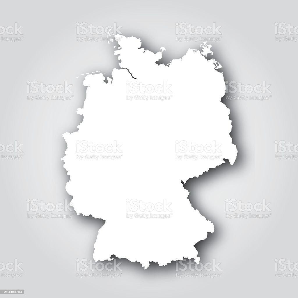 Germany Silhouette White vector art illustration