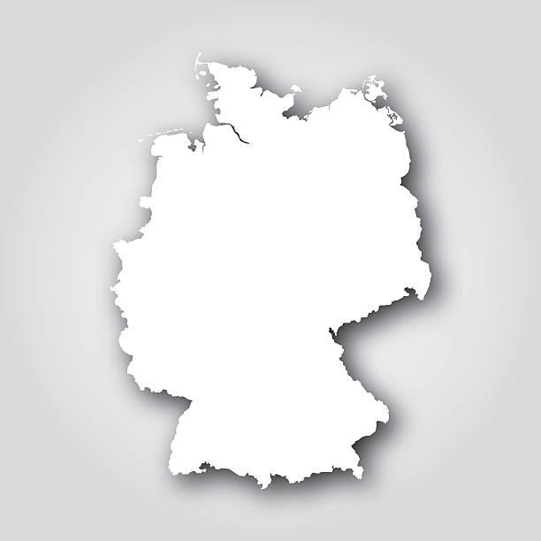 ドイツシルエットホワイト - 地図のシルエット点のイラスト素材/クリップアート素材/マンガ素材/アイコン素材