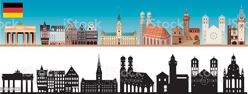 Deutschland die Skyline – Vektorgrafik