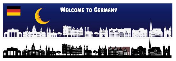 deutschland die skyline - hannover stock-grafiken, -clipart, -cartoons und -symbole