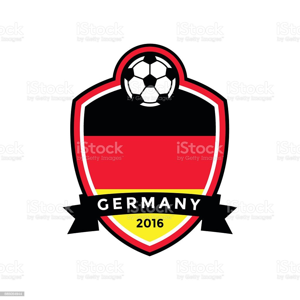 Germany soccer badge vector art illustration