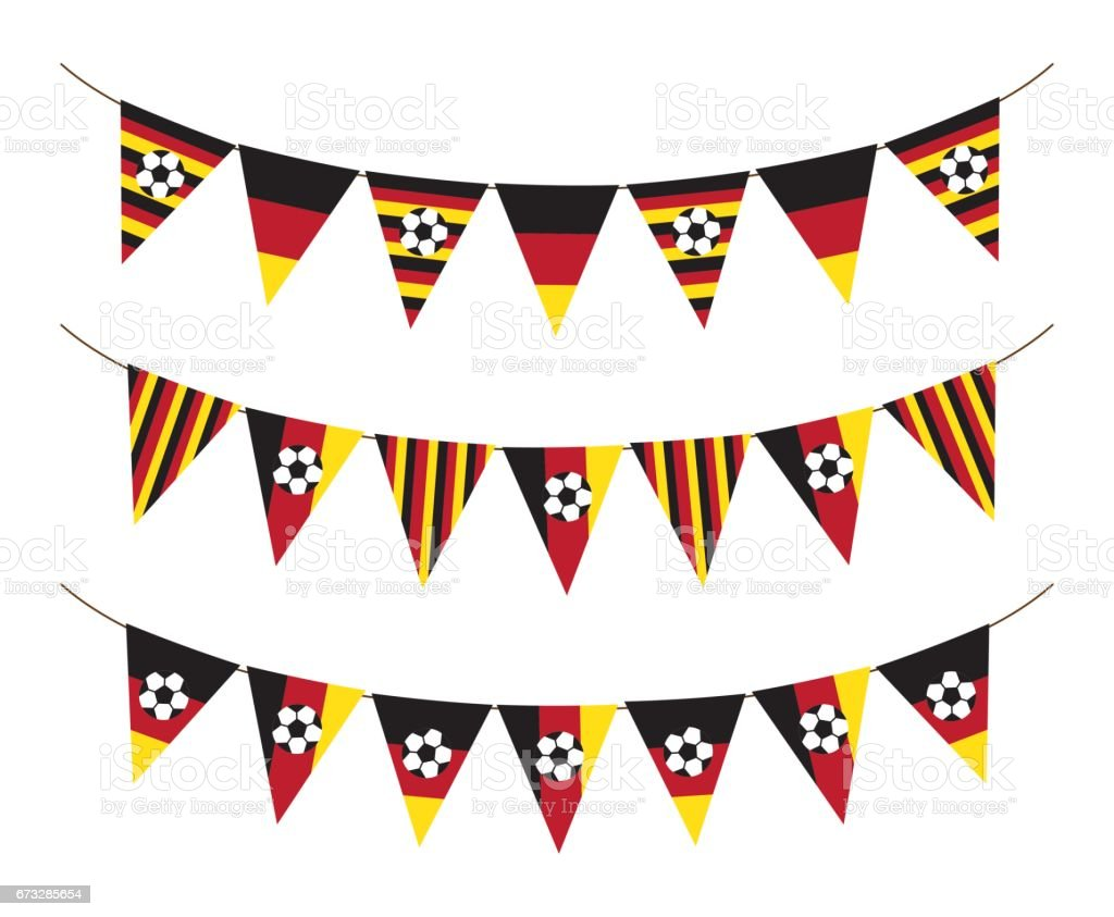 Germany soccer bunting flag