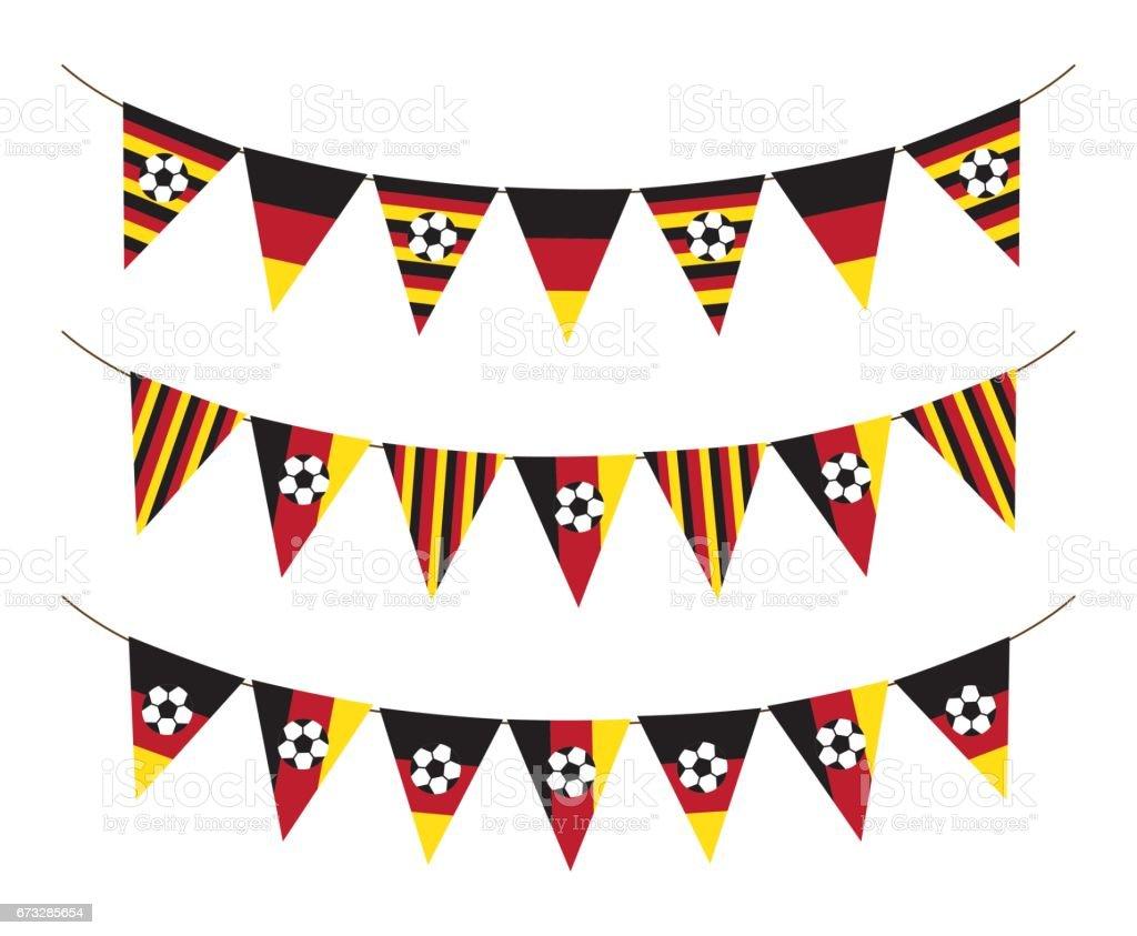 Bandera de Alemania futbol del empavesado - ilustración de arte vectorial