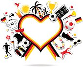 Germany soccer fan heart